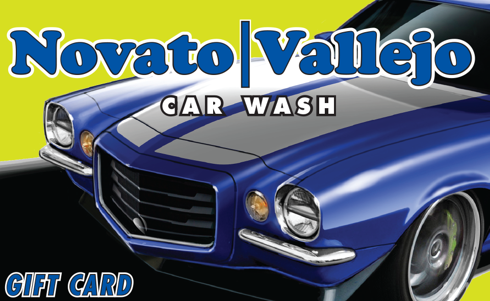 Vallejo's Gift Cards Wash Cards